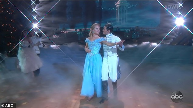 Graceful waltz: Sailor and Val earned rave reviews for their Viennese waltz