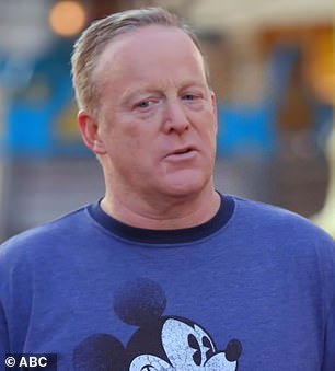 Fond memories: Sean Spicer went to Disneyland with his late father before he died and relived the memories with pro partner Lindsay Arnold