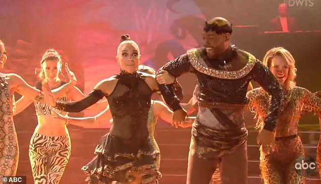 Fun dance: The judges praised Karamo for his fun routine