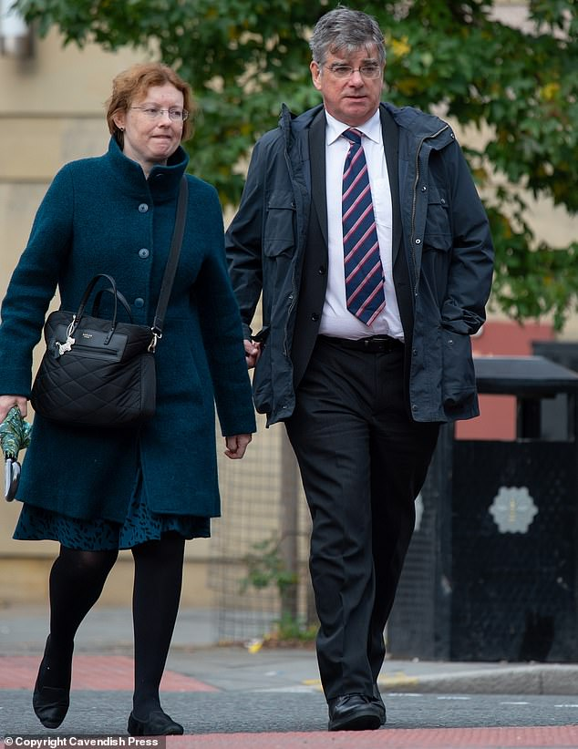 Dr Gelder (pictured outside the tribunal with his wife), told the hearing: 'My memory of the day is patchy. I had arrived at work at 8am and was experiencing feelings of euphoria'