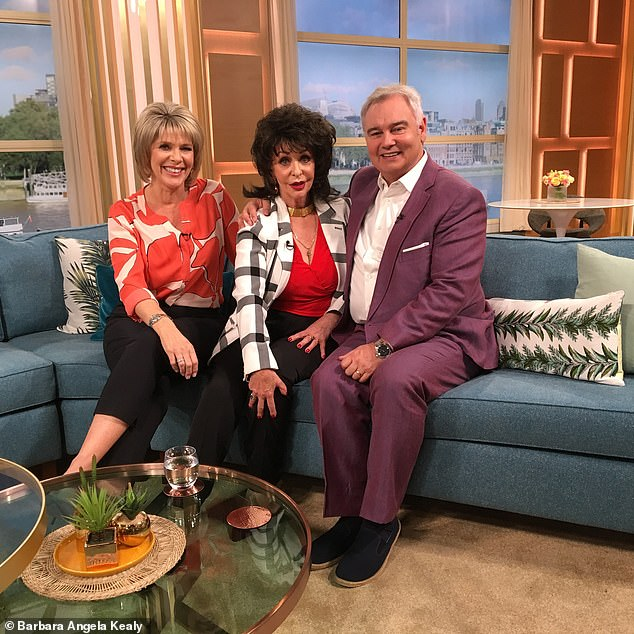 Barbara has attended many events as doppelganger Joan Collins - and has even been on the This Morning sofa alongside Ruth Langsford and Eamonn Holmes