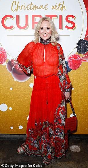 Va va voom: The Studio 10 host boosted her height with platform heels