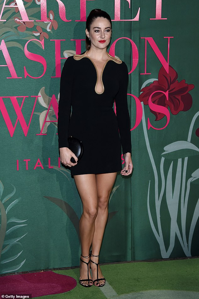 Impressive legs: Here the star shows off her figure at the Green Carpet Fashion Awards during the Milan Fashion Week Spring/Summer 2020 in September in Milan, Italy