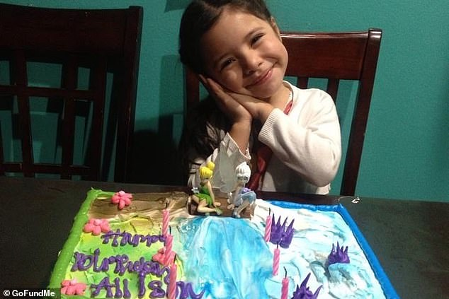 The Garden Grove Unified District released a statement following news of Allison's death. 'We are deeply saddened by the tragic passing of one of our students,' the statement reads. Allison is pictured on her sixth birthday