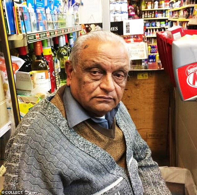 And holding fort, behind the counter, has always been Ashok Patel (pictured), who died earlier this month just a few days short of his 70th birthday
