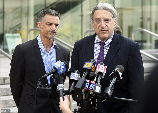 Fotis' attorney Norm Pattis (right) claimed last week that his client obtained a medical bill dated after Jennifer disappeared that could be proof that she is still alive. The medical bill was dated July 7, 2019 and was for 'reproductive' services. Fotis and Norm Pattis above on September 23, 2019