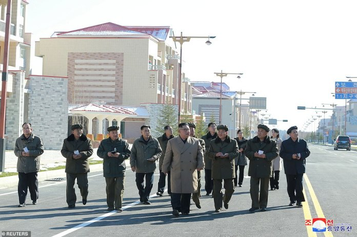 Today's photos of Kim Jong-Un come after North Korea earlier this month that it would not meet with the United States for more 'sickening negotiations' unless it abandons its 'hostile policy' against the North