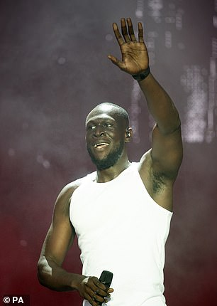 Mr Cook also helped to bring Stormzy (pictured at TRNSMT) to the label last year as part of a joint venture with the rapper's own Merky Records outfit