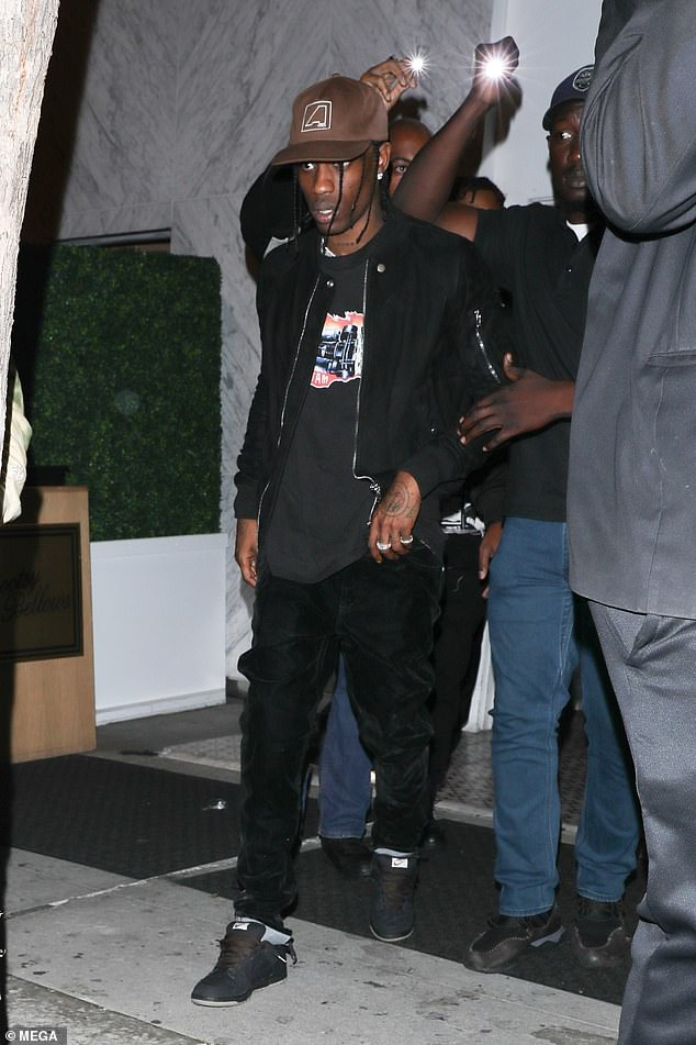 Party time: On Tuesday night the rapper was spotted partying at Bootsy Bellows in West Hollywood