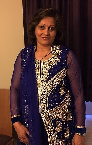 Arti Dhir, 55, from Hanwell, west London