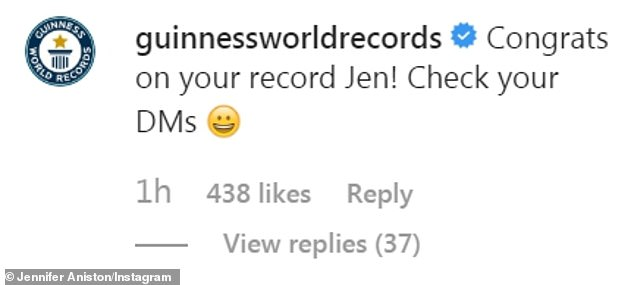 It's official!And while fans have joked about her breaking records by appearing on Instagram, it appears to be official with the Guisness World Records account commenting on her recent post