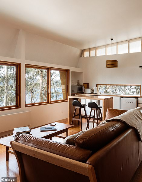 Perched on the waterfront amongst the tree tops, the relaxing one-bedroom space is 30 minutes by car from Hobart and starts at $470 per night