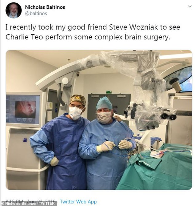Ms Teo's barrister, Nicholas Baltinos, is close friends with Apple co-founder Steve Wozniak and has previously brought him into Dr Teo's brain surgery