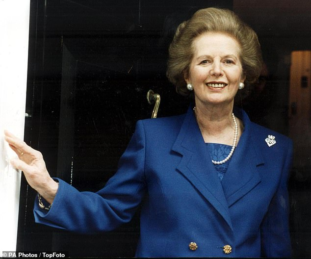 One of Margaret Thatcher's (pictured) aides discovered that she didn't have any money in her bank account after she left Downing Street