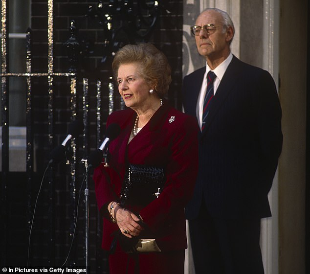 Margaret Thatcher's (pictured with her husband) reputation was highly damaged by a revamp of local taxation that was appallingly managed and presented
