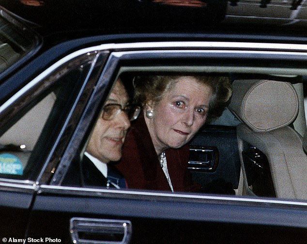 Charles Moore recounts the life of Britain's first female Prime Minister, Margaret Thatcher (picturedleaving Downing Street) in a third volume