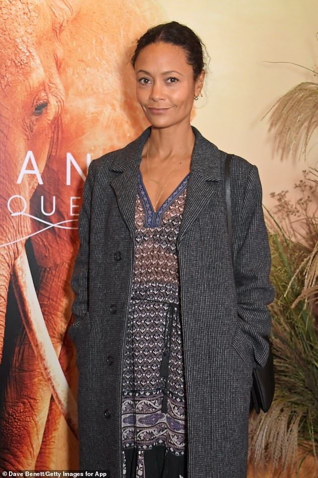 Actress Thandie Newton was among the stars to attend the film premiere alongside the royals this evening