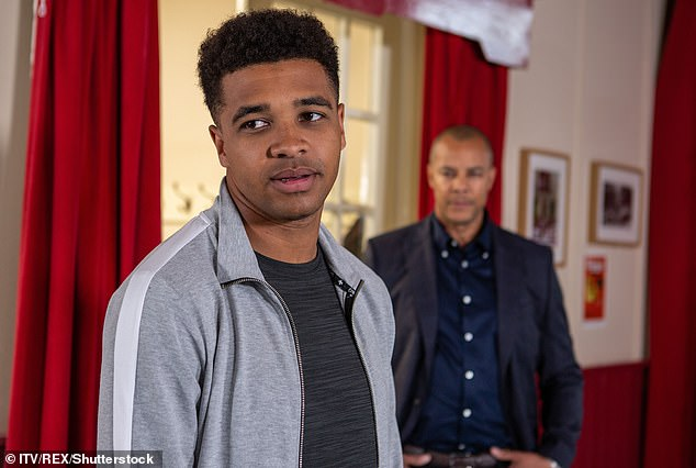 Bad news: The exit of Emmerdale character Ellis Chapman has been revealed after actor Asan N'Jie was sacked following a brawl with Hollyoaks star Jamie Lomas at the TV Choice Awards