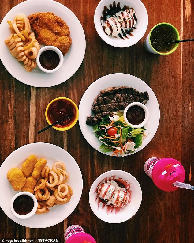 Hogs Breath Cafe in Queensland's Hervey Bay was a crowd favourite among diners for delivering its iconic steakhouse flavours and curly fries (pictured)