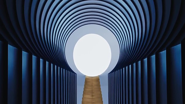 Location, location, location:This tunnel is in fact a vaulted hallway inside Northern Arizona's Roden Crater, a massive art installation by James Turrell in an extinct volcano
