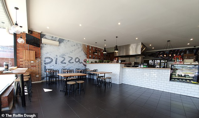 'Pizza is not only our favourite food, but we love that each base is a new canvas for us to create amazing flavours,' the owners of The Rollin Dough (pictured) said