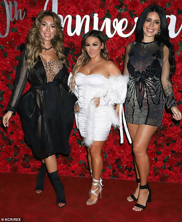 Hot stuff:Jenn Harley and Larissa Lima joined her on the red carpet