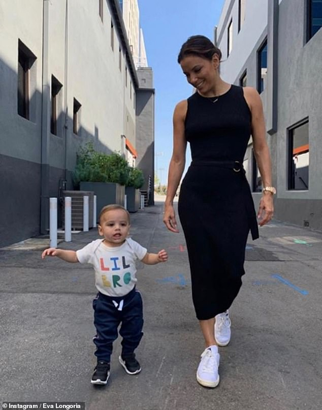 Proud parent:Eva welcomed her first child with her husband Jose Baston, who is the president of Televisa, the largest media company in Latin America, in June 2018