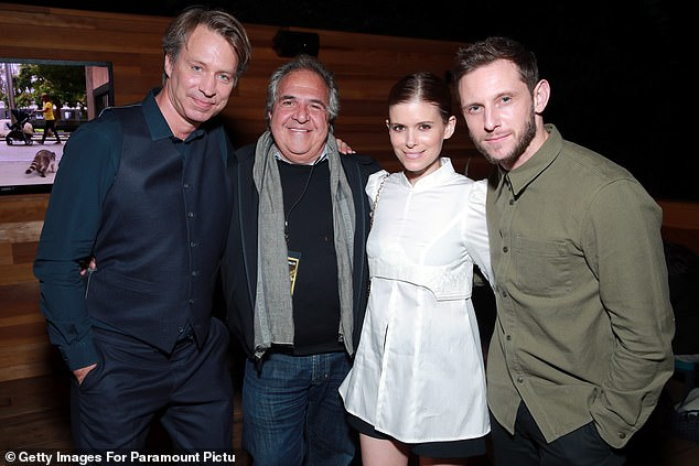 Lovely: Jamie (far right) was joined at the event by his wife Kate Mara (second right). They welcomed a daughter together in May