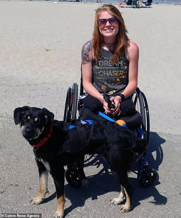 Raising money: Mandy's summit of Lady Liberty was done in order to raise funds for Cars4Heroes, an organization that helped her after her accident
