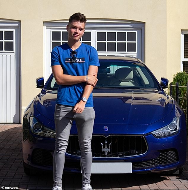 When placed by a Maserati Ghibli, priced at an average of £52,930, for his photograph, people said this man was a 6.71 out of ten - his highest mark