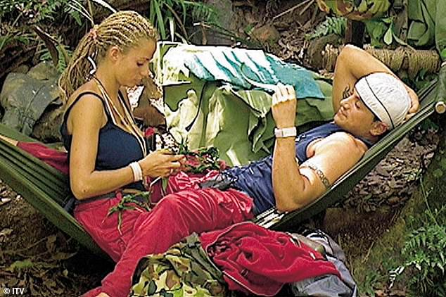 Way back when:She became the nation's sweetheart after winning I'm A Celeb in 2004 (pictured in the jungle where she met her now ex-husband Peter Andre)