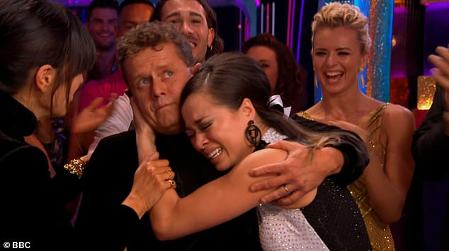 Sobbing:Strictly's Mike Bushell has revealed why he had to console crying Katya Jones after they managed to pull off their live performance on Saturday