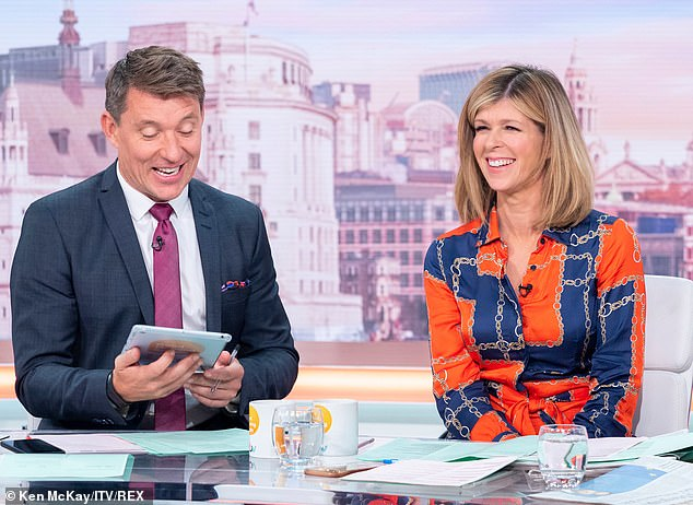 Busy:It comes 12 months after Kate was said to have pulled out of the show because of her hectic schedule - despite sources claiming she was offered £150,000 to take part (Kate pictured on GMB with co-host Ben Shephard recently)