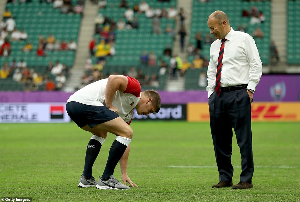 The Australia rivalry has been elevated even more since Eddie Jones (right with captain Owen Farrell) joined the side as England's coach, as he managed the Wallabies when they lost to England in the 2003 World Cup final