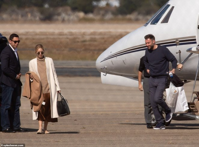 On Friday, Jennifer Lawrence and Cooke Maroney arrived in Rhode Island on a private jet for their weekend wedding