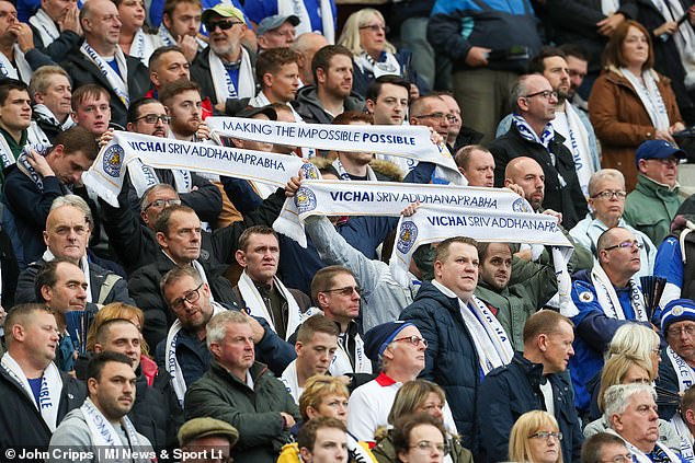 Fans displayed specially-made scarves for their much-loved former owner Khun Vichai