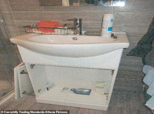 The shoddy bathroom work completed by Hare which he claimed to deliver 'outstanding service'