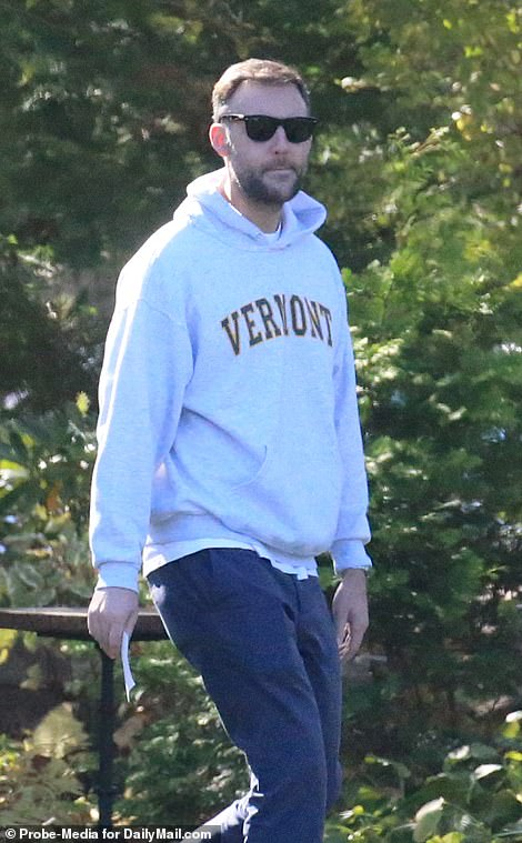 In exclusive pictures by DailyMail.com, Maroney was seen arriving to the wedding venue at Belcourt Castle in Newport, Rhode Island around midday