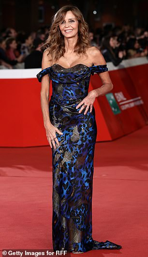 Popular event: Other guests at Saturday night's red carpet event included Italian actress Eliana Miglio