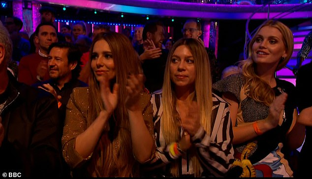 Exciting:The Fight for This Love singer, 36, sent show watchers into meltdown as she sat in the audience