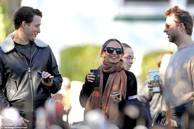 On Saturday morning, Nicole Ritchie was spotted getting coffee at taking a stroll with her entourage in Newport