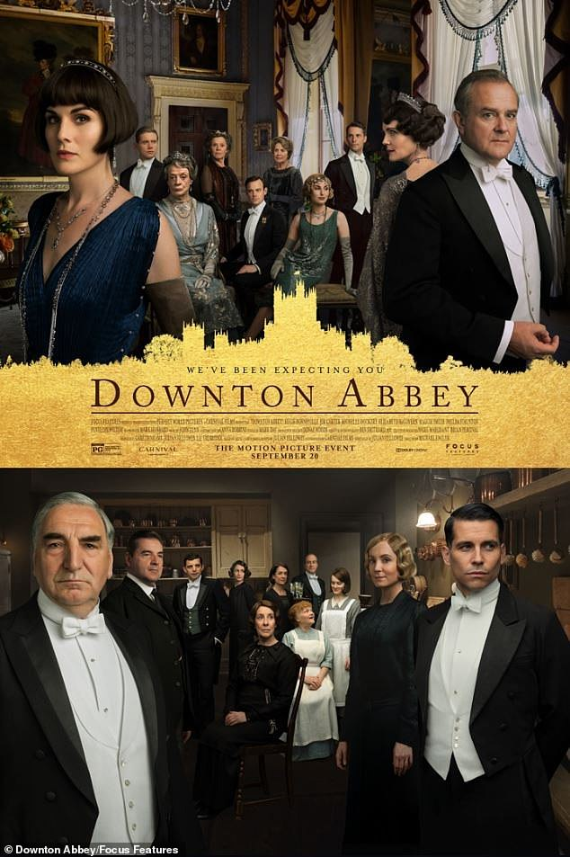Exciting: The film adaptation of Downton Abbey follows the show's characters as they try to keep afloat following the announcement of a royal visit by King George V and Queen Mary