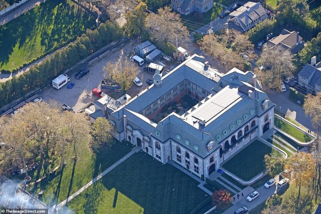 Room for all! The birds-eye view of the castle Jennifer and Cooke will wed in