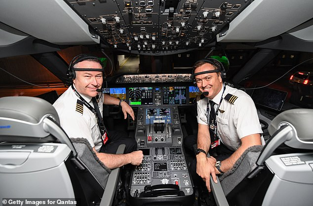 Four pilots were put on rotation throughout the flight and two additional pilots who flew the aircraft to New York were stationed in the cabin
