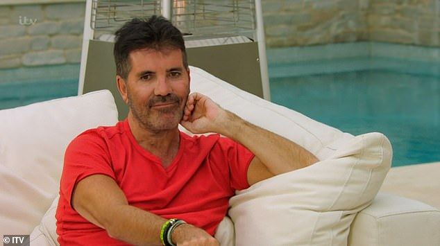 New look: X Factor: Celebrity fans were shocked at Simon Cowell's fashion transformation as he ditched his usual white T-shirt and flared jeans for something a little more eye-catching
