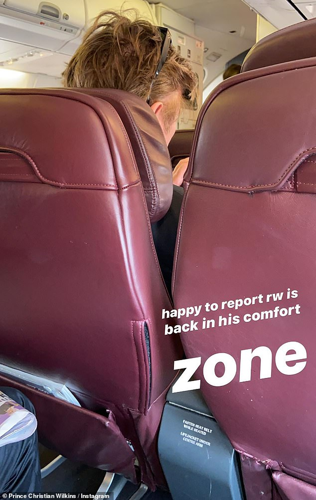 Hilarious: Christian later shared another photo of Richard, this time of the back of his head, and with the caption: 'Happy to report Richard Wilkins is back in his comfort zone'