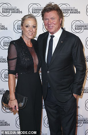 Going strong: Richard was also accompanied by girlfriend Virginia Burmeister