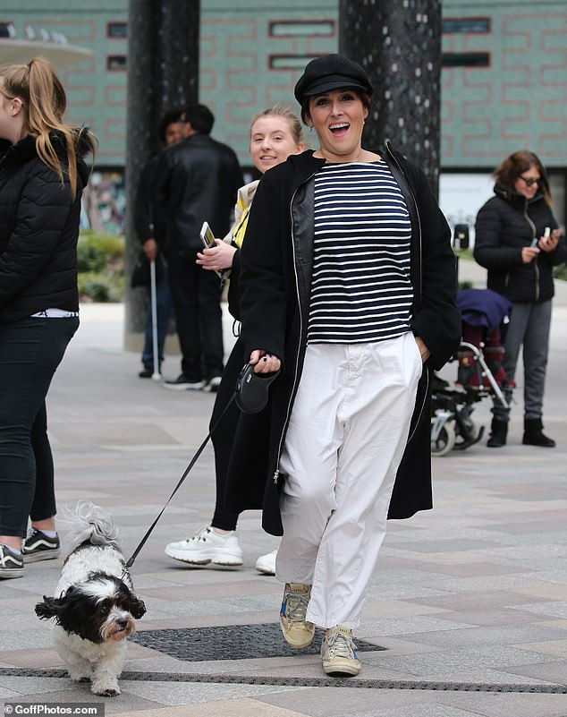 Casual: Calls for the boycott come as Ricki Lake was seen going for a stroll outside the London ITV Studios on Sunday