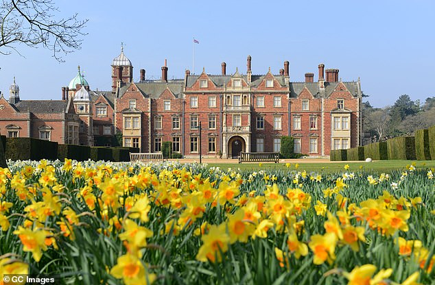 The Queen's royal tradition is to spend Christmas at her Sandringham, Norfolk home (pictured)