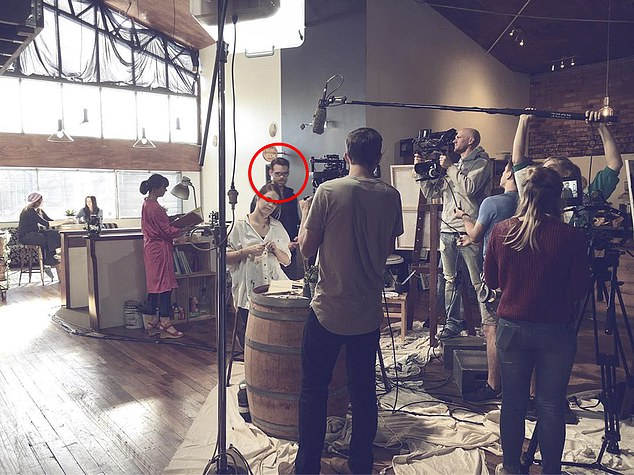 He's a natural! The personal trainer (circled) has spent plenty of time on set over the years, and is referred to on IMDb as an 'actor auditioning for leading roles around the world